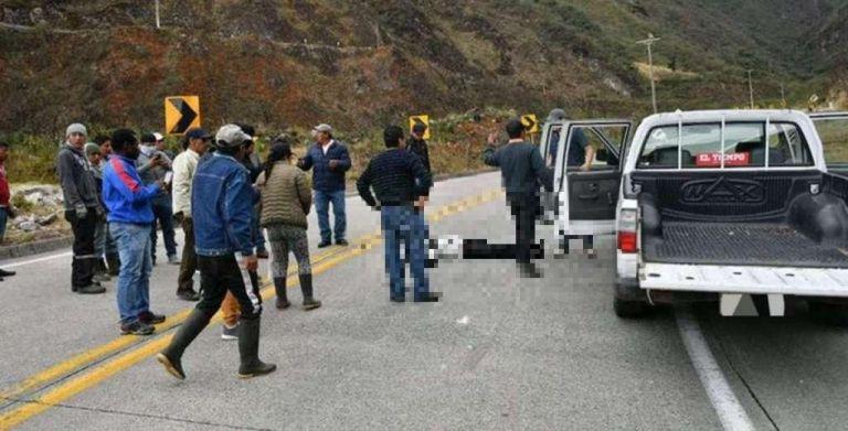 Se trata de un hombre de 35 años, que fue encontrado sin signos vitales, víctima de un atropellamiento. Foto: Tomada de Diario El Tiempo