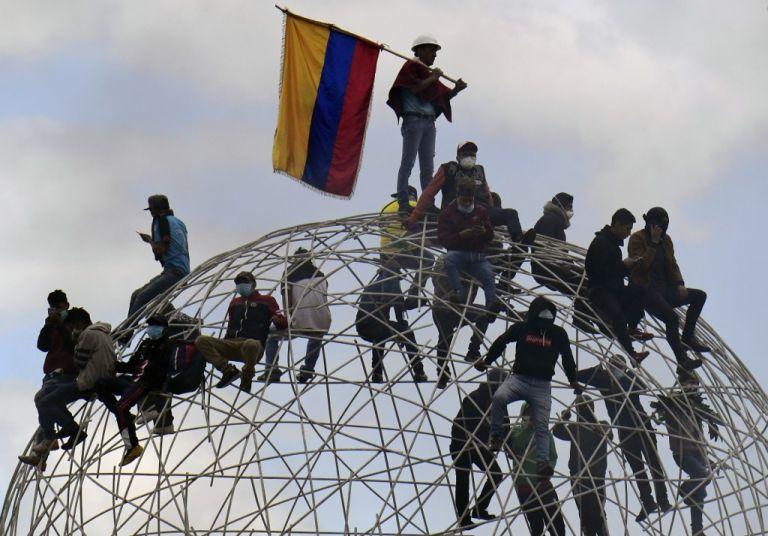 La Vicepresidencia de la República extendió la invitación al diálogo a otras organizaciones sociales, entre ellas al Consejo de Pueblos y Organizaciones Evangélicas Indígenas del Ecuador (FEINE). Foto: AFP.