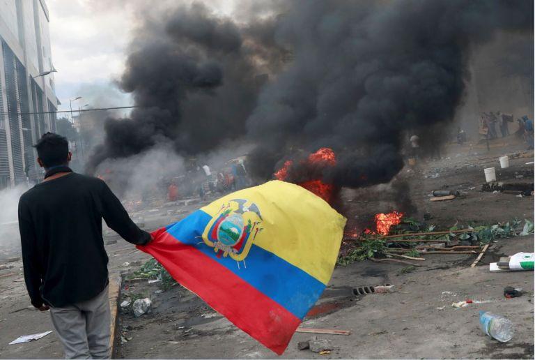 """""""La victoria fue de Ecuador, pero la lucha fue de los indígenas"""", como uno de ellos declaró. Foto: Reuters."""