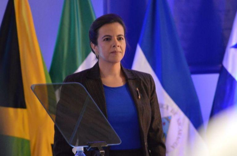 La ministra de Gobierno, María Paula Romo, estuvo presente en la firma del convenio de cooperación interinstitucional entre las Policías de ambos países.