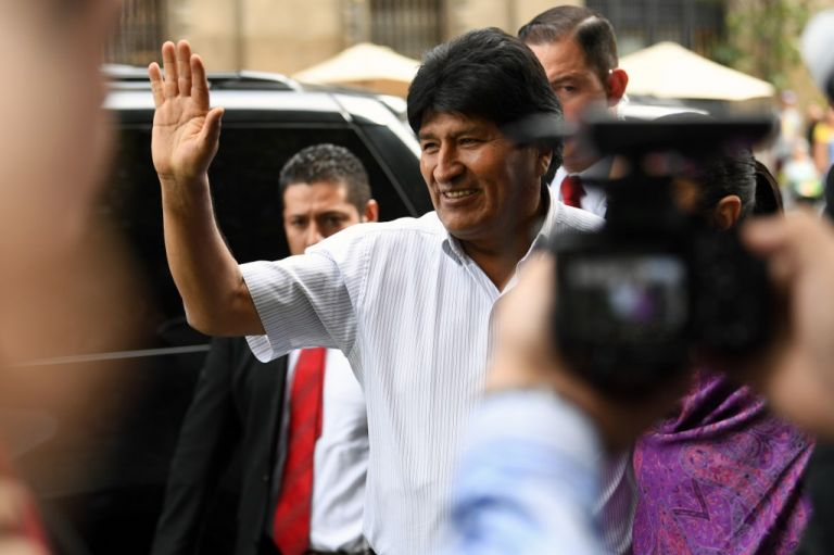 Morales llegó el martes a México en calidad de asilado. Foto: AFP