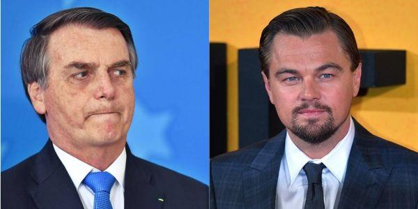 """""""Leonardo DiCaprio, tú estás colaborando con los incendios en la Amazonía"""" dijo el presidente de Brasil contra el actor. Fotos: AFP."""