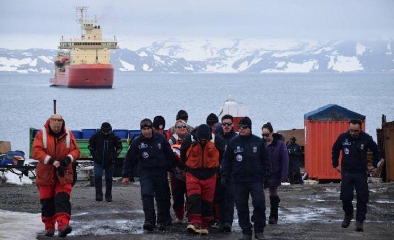 La base antártica Presidente Eduardo Frei a la que se dirigía el avión siniestrado. Foto: Fuerza Aérea Chilena.
