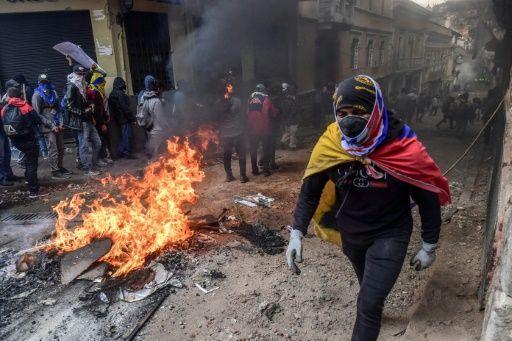 El 40,7 % de los encuestados puso en primer lugar a las protestas de octubre pasado. Foto: AFP