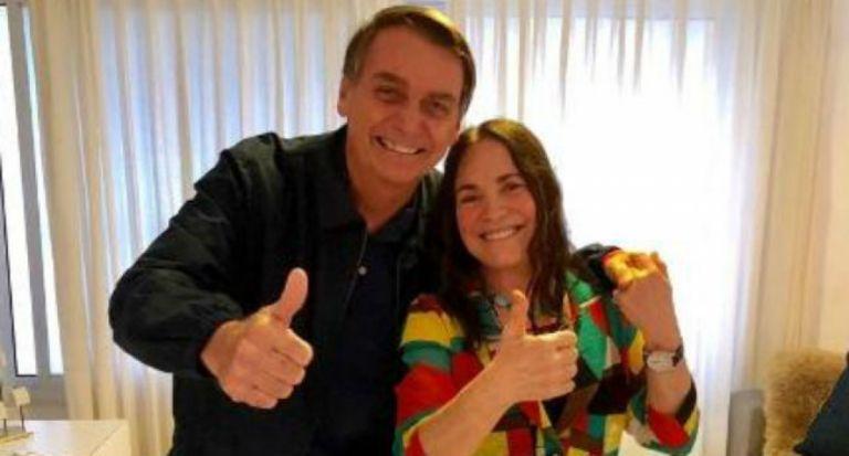 """""""Estamos comprometidos"""", dijo la actriz luego de reunirse con Bolsonaro."""