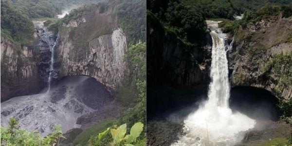 La cascada San Rafael tiene una altura de 150 metros y un ancho de 154 metros. Fotos: Ministerio de Ambiente.