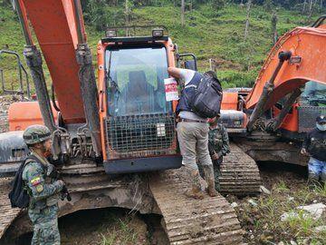 Arcom desmanteló campamentos y decomisó material mineralizado y equipos. Foto: @ControlMinero