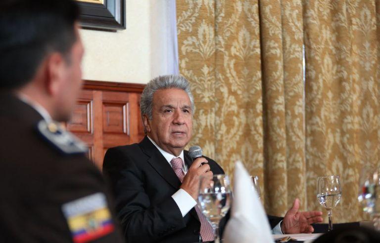 Ecuador espera que Estados Unidos colabore en la capacitación de medio millar de policías. Foto: Presidencia.