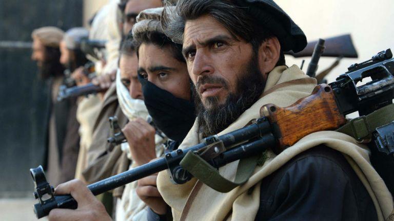 Grupo talibanes. Foto: AFP