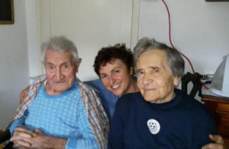 Alberto Bellucci (izquierda) se recuperó del coronavirus a sus 101. En Italia es el caso más destacado.