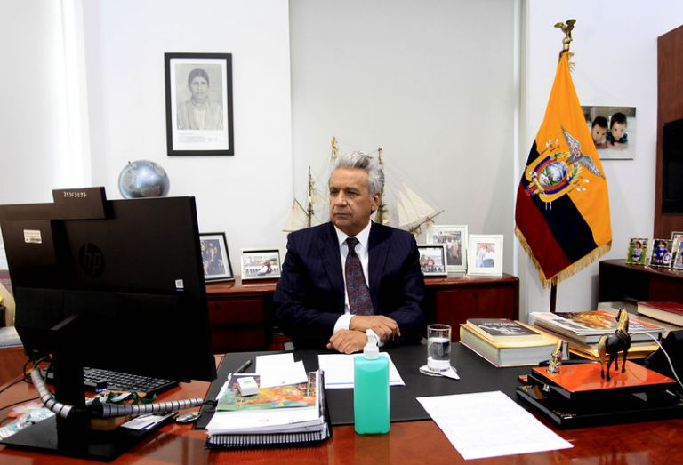 El presidente de la República, Lenín Moreno, invita a los ecuatorianos a ser voluntarios en las acciones para frenar el contagio del COVID-19.