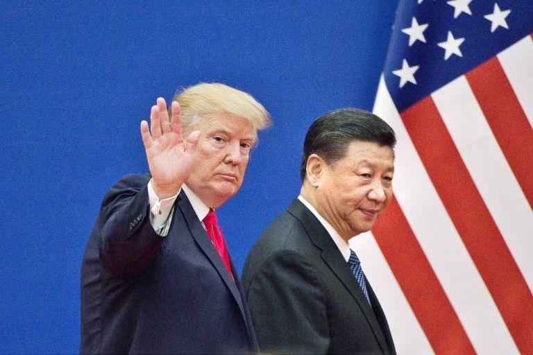 """""""No estamos contentos con China"""", dijo Trump desde la Casa Blanca. Foto: AFP"""