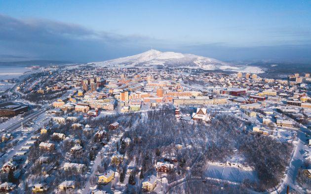 La erosión provocada por la mina de hierro de Kiruna obliga a trasladar esta localidad sueca.