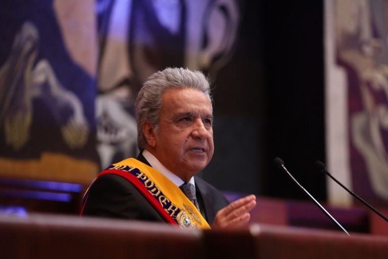 El presidente de la República, Lenín Moreno, presentó el proyecto en el Informe a la Nación del 24 de mayo. Lamentó que durante la emergencia algunos procesos de contratación pública se hayan visto manchados por corrupción.
