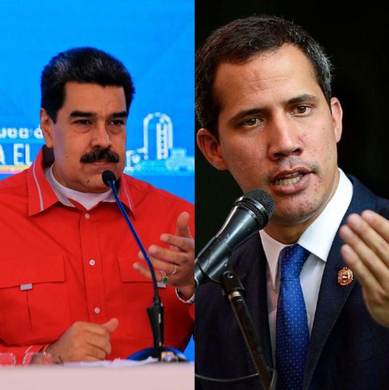 Nicolás Maduro y el líder opositor Juan Guaidó.