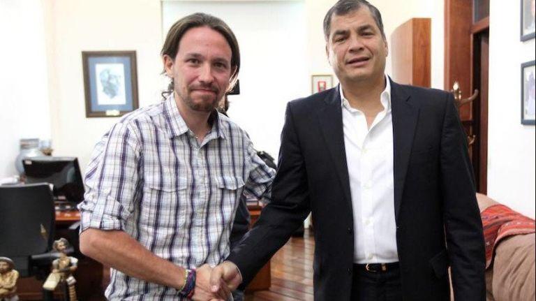 En el video, Iglesias expresa su respaldo a Correa y sostiene que contra el exmandatario existe una campaña de sus adversarios.
