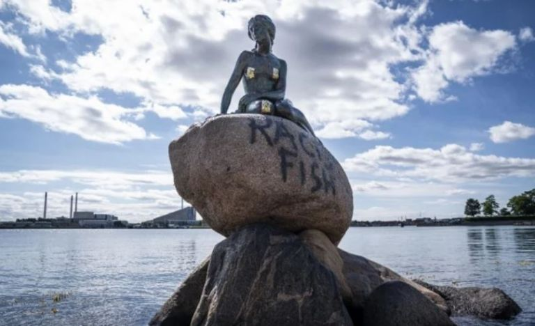 Sirenita de Copenhague. Foto: EFE.