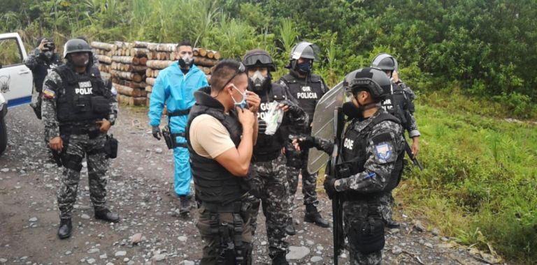 Las personas liberadas fueron trasladadas al Comando de Policía para una evaluación médica.