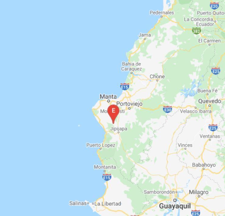 El temblor ocurrió a una profundidad de 16,35 kilómetros y a 13,74 kilómetros de la ciudad de Jipijapa, en Manabí.