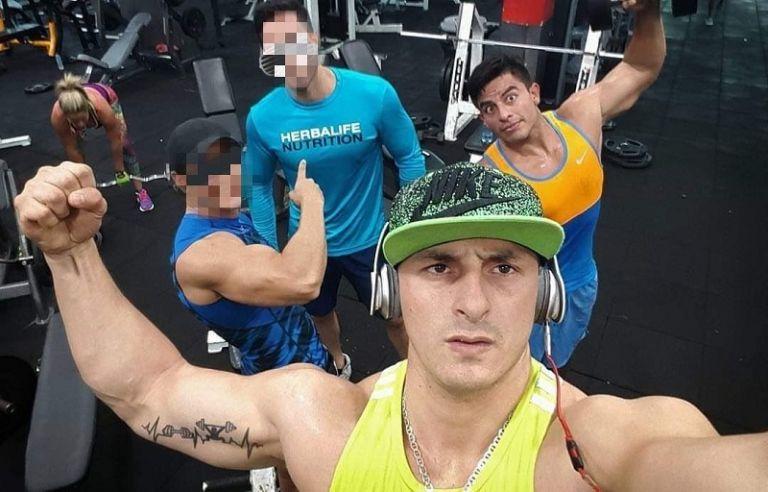 Abraham Muñoz, entrenador y parte del círculo de amigos cercanos a Daniel Salcedo.