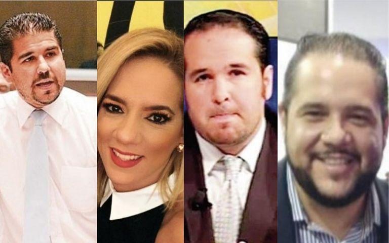 En la foto aparecen Abdalá Bucaram (Dalo), su esposa Gabriela Pazmiño, Michel y Jacobo Bucaram.