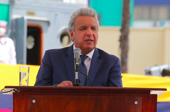 El presidente Moreno alentó hoy un próximo acuerdo crediticio con el Fondo Monetario Internacional. Foto: Presidencia.