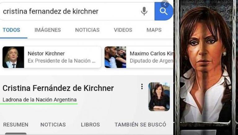 Cristina Kirchner vs. Google: la respuesta de la empresa