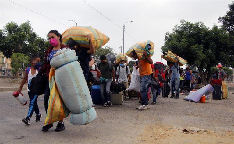 Un estudio rompe con esta errónea percepción de que la migración venezolana ha incrementado los niveles de delincuencia en la región. Foto: EFE.