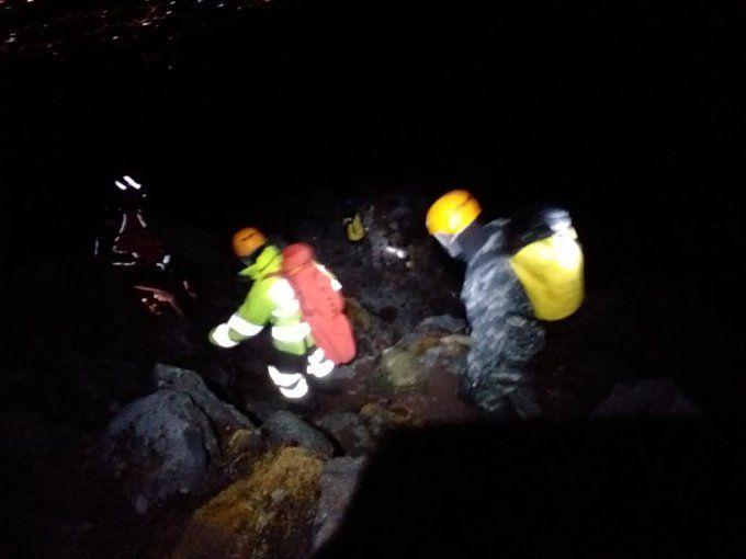 Según un reporte del ECU 911 de Ibarra, las personas quedaron atrapados en el cerro Cotacachi.