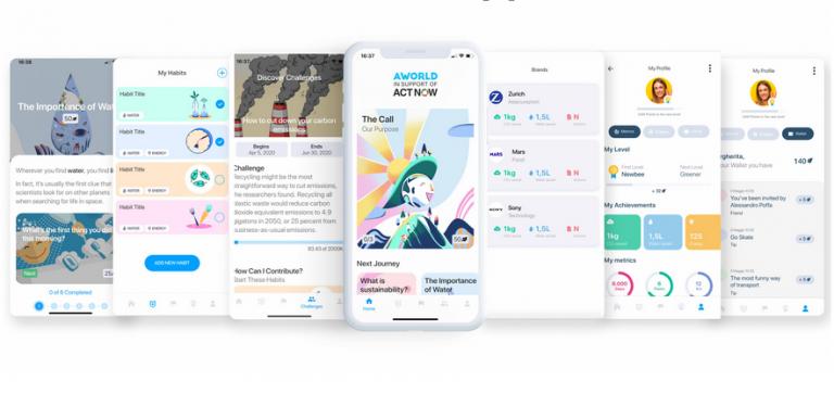 La app permite a los usuarios registrar y realizar un seguimiento del conjunto de acciones que realizas diariamente para combatir el cambio climático.