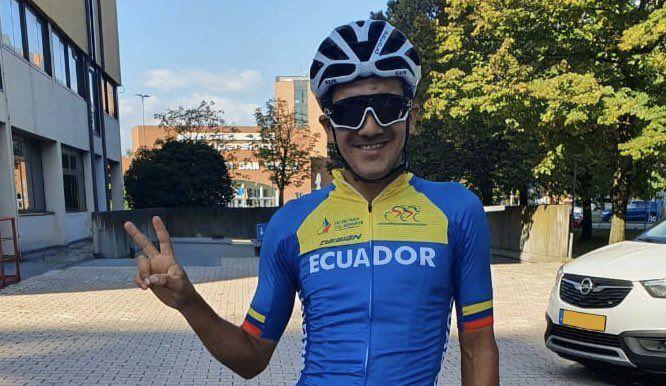 Richard Carapaz fue el mejor latinoamericano del Mundial de Ciclismo de Ruta. Foto: @RichardCarapazM