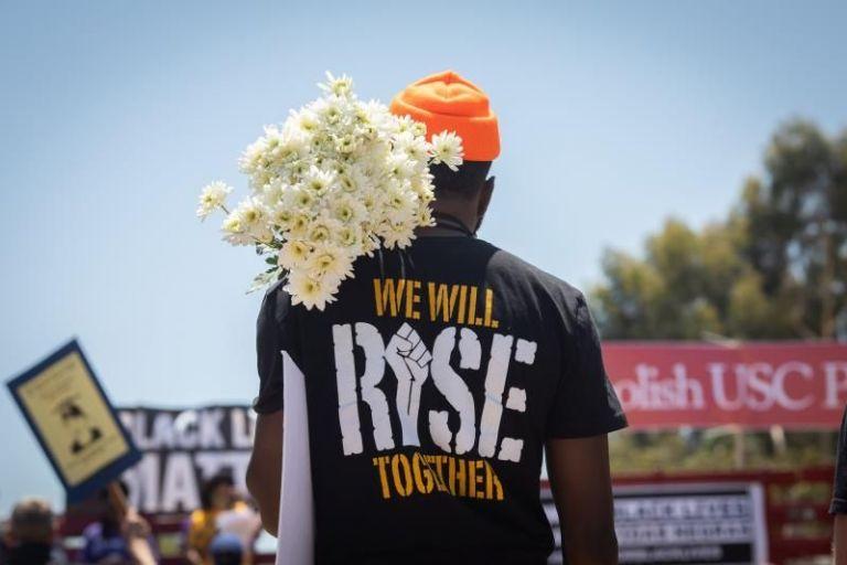 Protestas en EEUU ante las muertes de afroamericanos por brutalidad policial . Foto: EFE