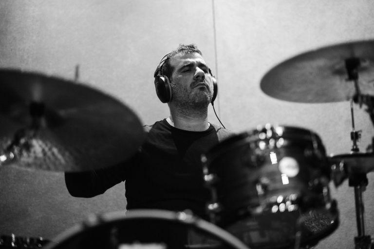 El baterista Eduardo Nacer.