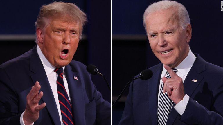 El presidente Donald Trump y el demócrata Joe Biden. Foto: CNN
