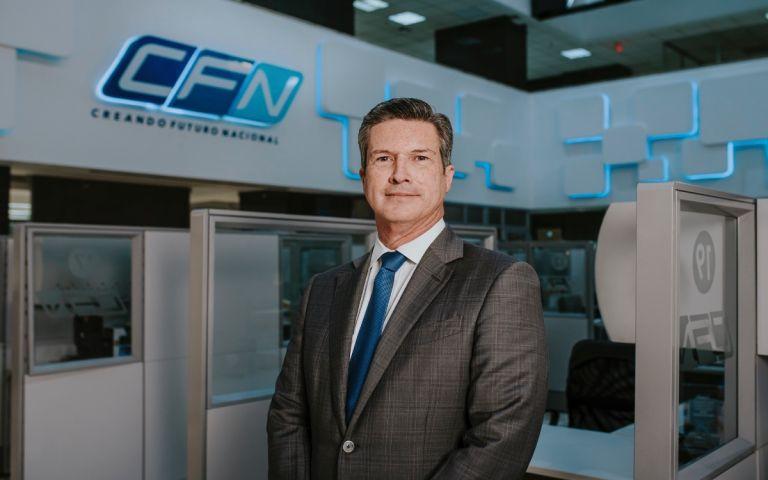 Roberto Dunn Suárez, presidente del Directorio de la Corporación Financiera Nacional.