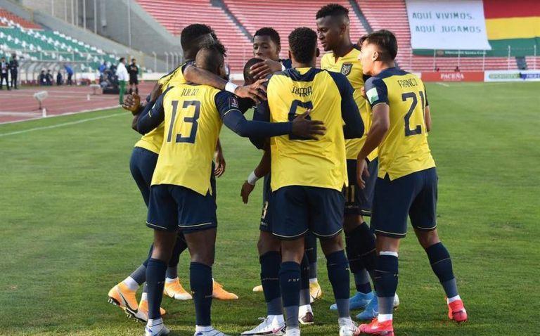 La selección de Ecuador en partido contra Bolivia Foto: EFE