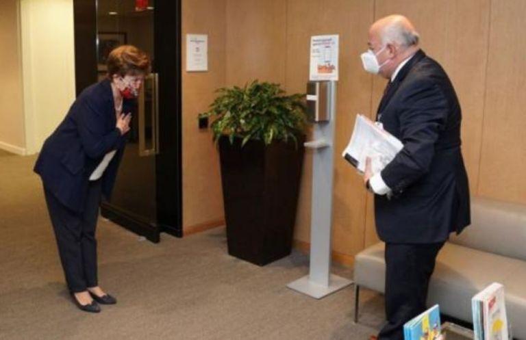 El ministro de Finanzas Mauricio Pozo tuvo su primera reunión presencial, el 29 de octubre pasado, con la máxima autoridad del Fondo Monetario Internacional (FMI), Kristalina Georgieva.