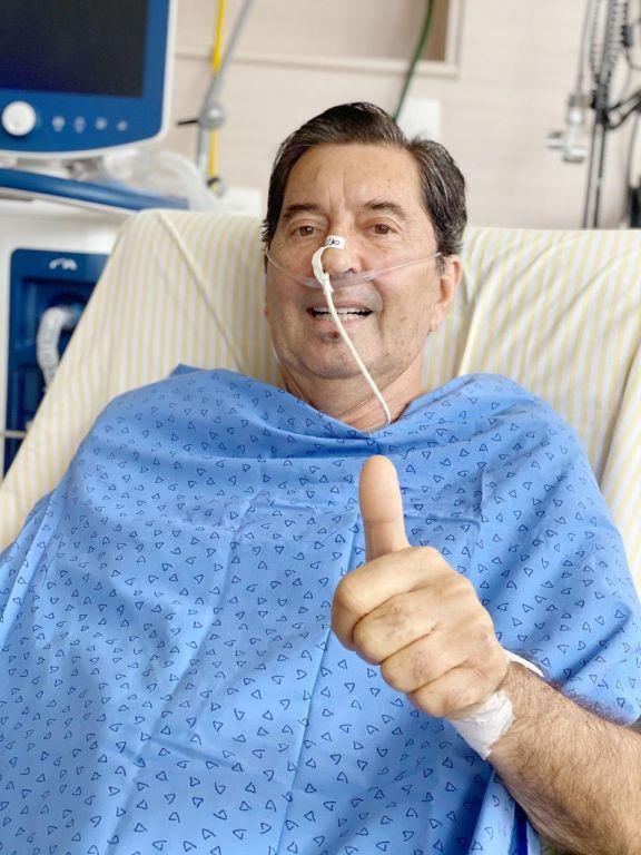 Maguito Vilela fue elegido este domingo como alcalde de la ciudad brasileña de Goiania, pero desconoce su victoria en las urnas debido a que está entubado y sedado en una unidad de cuidados intensivos. Foto: @maguitovilela15