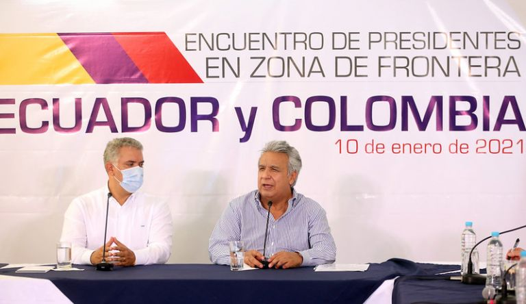 Los presidentes Iván Duque y Lenín Moreno reforzaron la cooperación bilateral, así como su apoyo a la defensa de la democracia en la región. Foto: Flickr Presidencia.