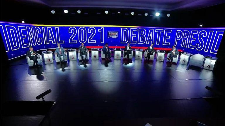 Siete candidatos participaron en la primera jornada del debate, realizado el jueves 14 de enero de 2021.