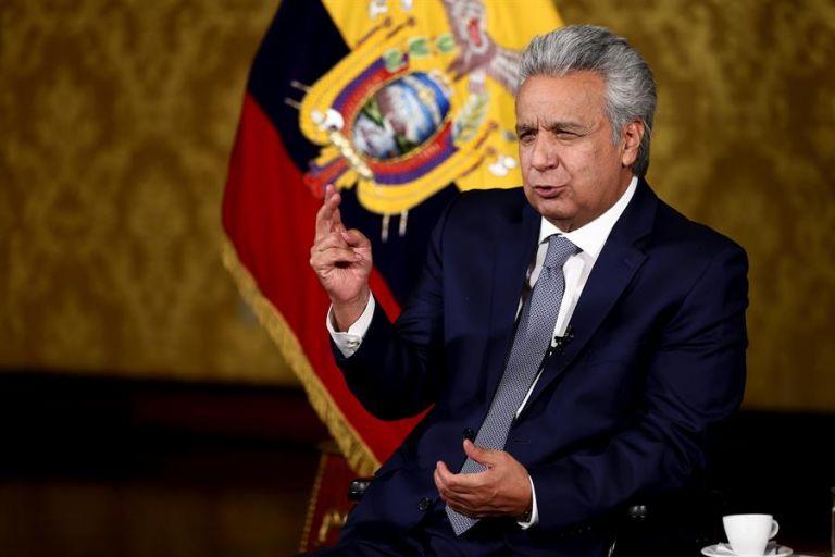 """""""Se nos dijo que dejaban el país con la mesa servida y no fue verdad. Yo confiaba en la palabra del presidente"""", dijo Moreno. Foto: EFE"""