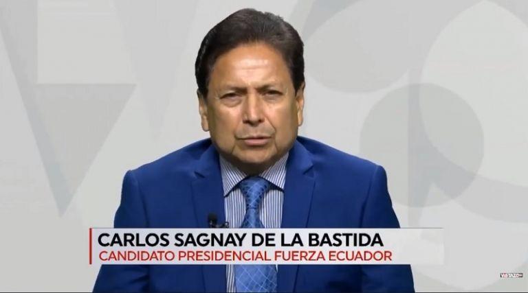 Carlos Sagnay, del partido de Abdalá Bucaram, promete acabar con la corrupción.