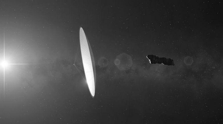 Representación artística de Oumuamua. En octubre de 2017, científicos del observatorio Haleakala de Hawai detectaron la entrada al Sistema Solar de un objeto interestelar. Foto: EFE