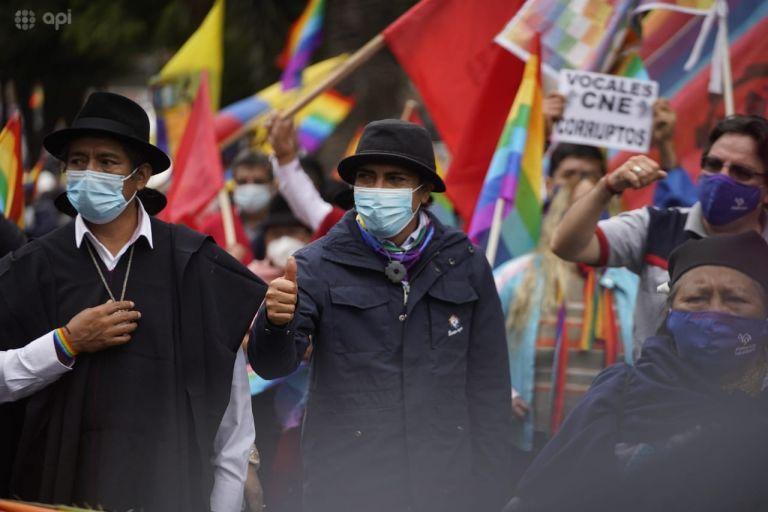 """""""Señor Lasso, el pueblo ecuatoriano nos pide un acuerdo"""", dijo Pérez. Foto: API"""