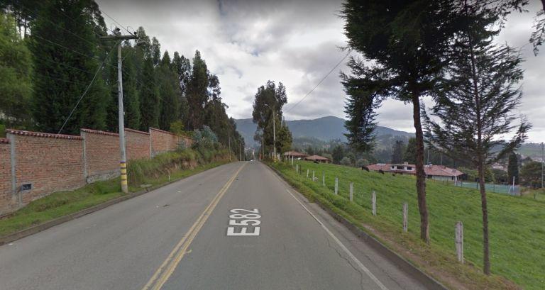 El enfrentarmiento ocurrió en un inmueble, situado aprox. en el kilómetro 60 de la vía Molleturo-Naranjal. Foto: Captura