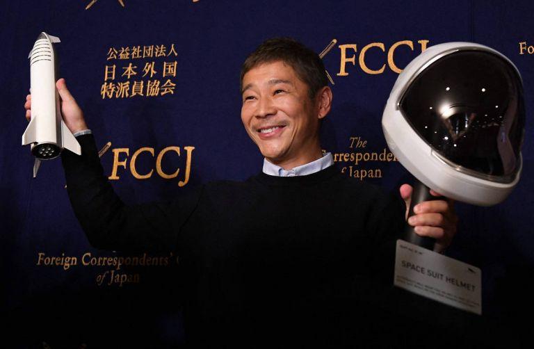 Maezawa es fundador y CEO del negocio minorista de moda ZozoTown.  Foto: TOSHIFUMI KITAMURA