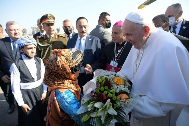 Viaje apostólico a Irak: Oración de sufragio por las víctimas de la guerra. Foto: Vaticano