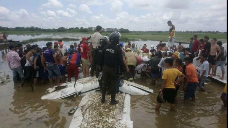 Los pobladores de la zona dieron aviso a las autoridades de la caída de la aeronave