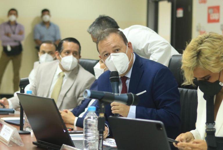 Sesión del COE Nacional, el miércoles 14 de abril, desde Guayaquil. Foto: COE Nacional