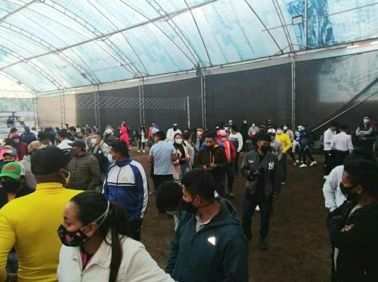 300 personas en un evento deportivo en Otavala.